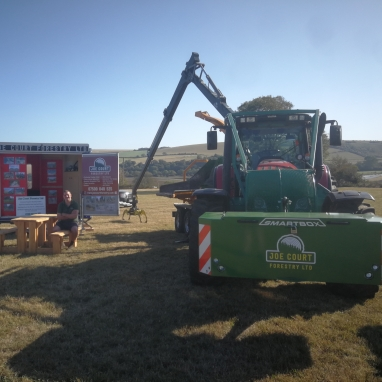 Joe Court Forestry Ltd at West Grinstead Ploughing Match